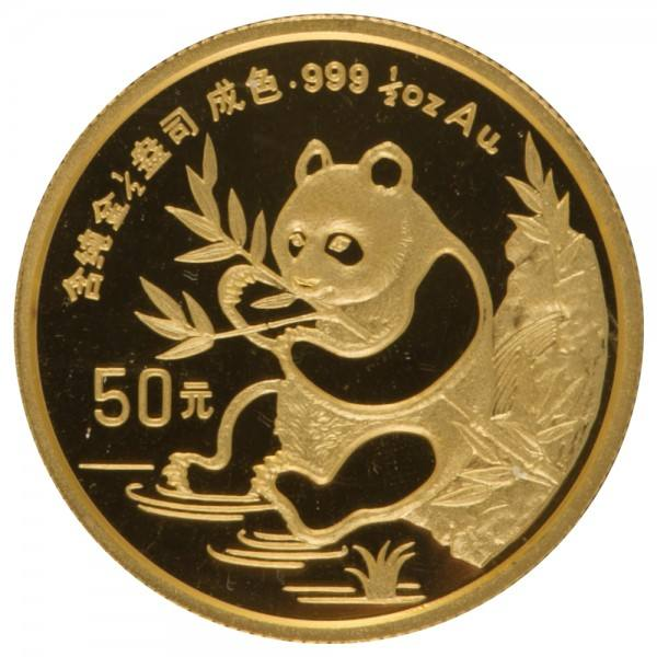 Ankauf: China Panda 1991, Goldmünze 1/2 Unze (oz)