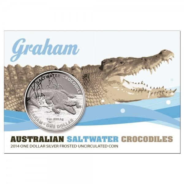 Salzwasser Krokodil 2014 Graham, Silbermünze 1 Unze (oz)