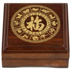 Münzbox/Geschenkbox für Lunar II 1 x 1 Unze oz Goldmünze