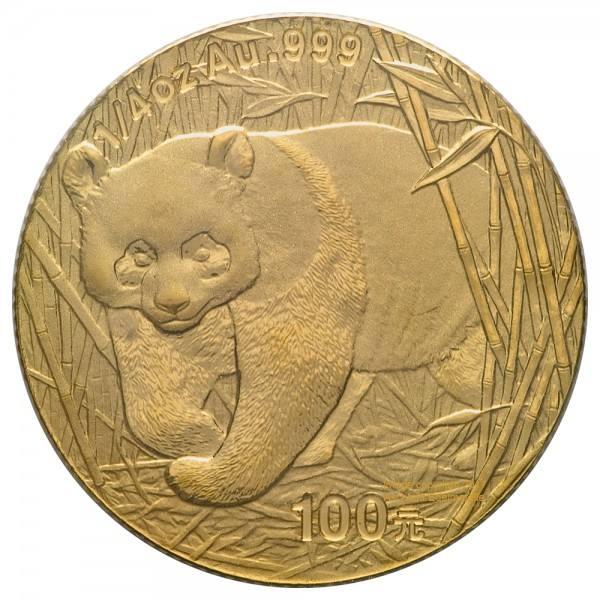 Ankauf: China Panda 2002, Goldmünze 1/4 Unze (oz)