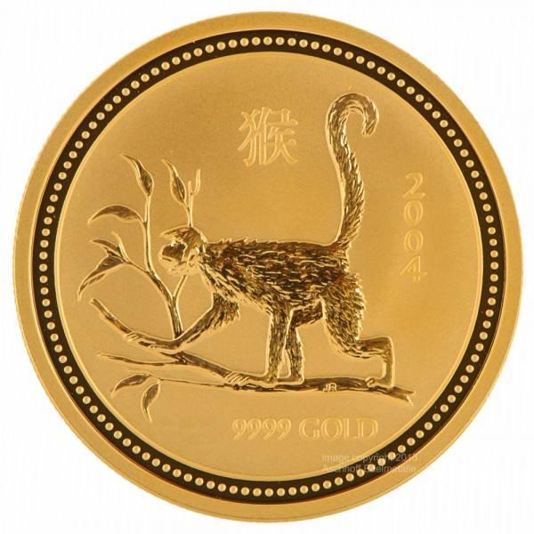 Ankauf: Lunar I 2004 Affe, Goldmünze 10 Unzen (oz)