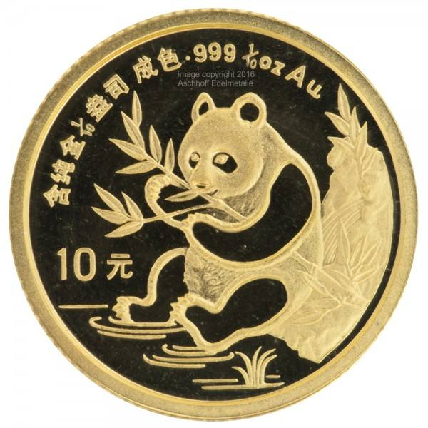 Ankauf: China Panda 1991, Goldmünze 1/10 Unze (oz)