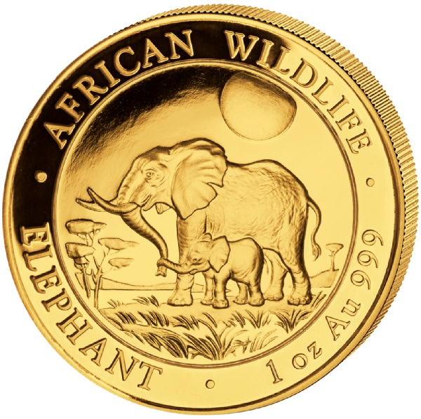 Ankauf: Somalia Elephant 2011, Goldmünze 1 Unze (oz)