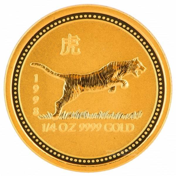 Ankauf: Lunar I 1998 Tiger, Goldmünze 1/4 Unze (oz)