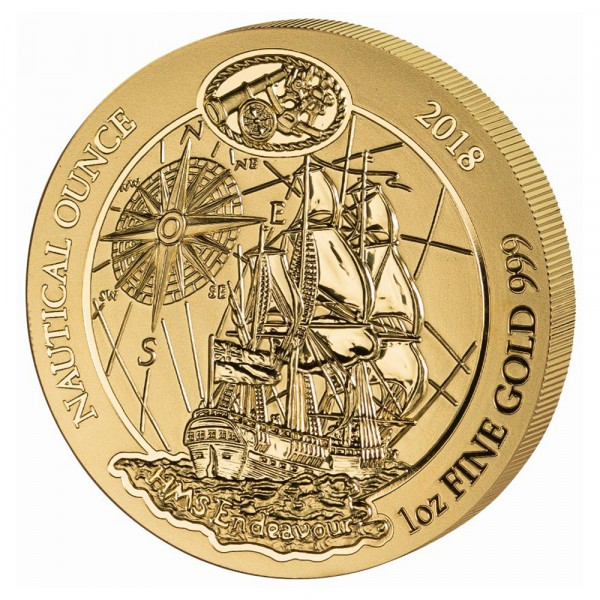 Ruanda Nautical Ounce 2018 Endeavour, Goldmünze 1 Unze (oz)