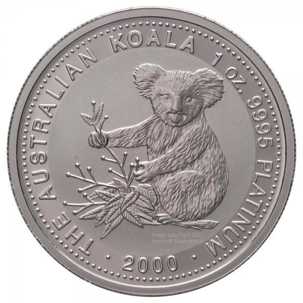 Australian Koala 2000, Platinmünze 1 Unze (oz)