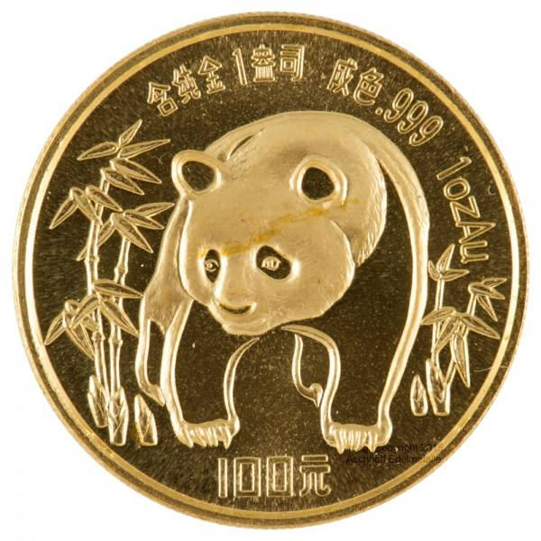 Ankauf: China Panda 1986, Goldmünze 1 Unze (oz)