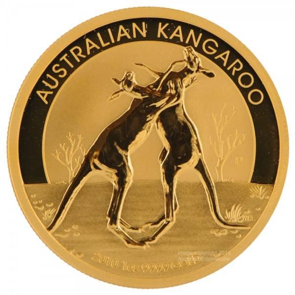 Ankauf: Australian Kangaroo (Nugget) 2010, Goldmünze 1 Unze (oz)