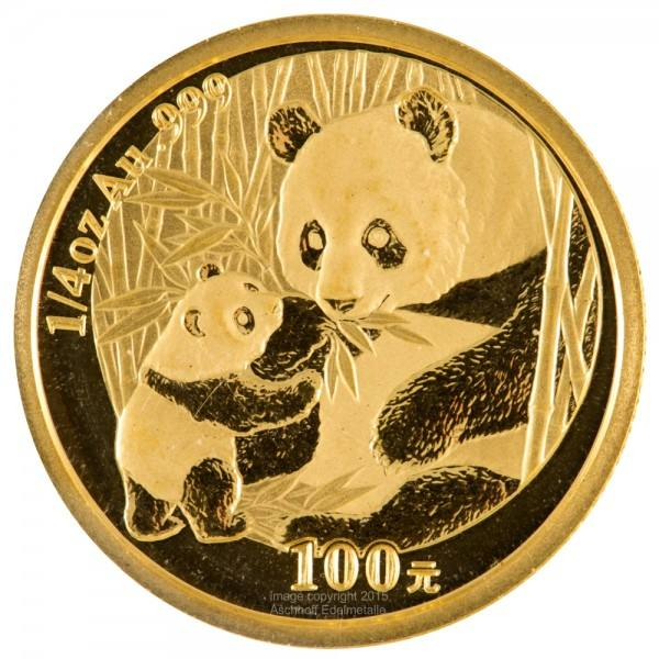 Ankauf: China Panda 2005, Goldmünze 1/4 Unze (oz)