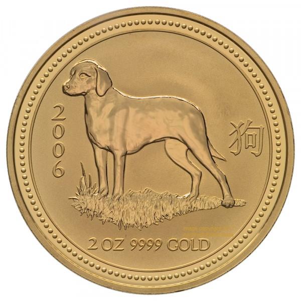 Ankauf: Lunar I 2006 Hund, Goldmünze 2 Unzen (oz)