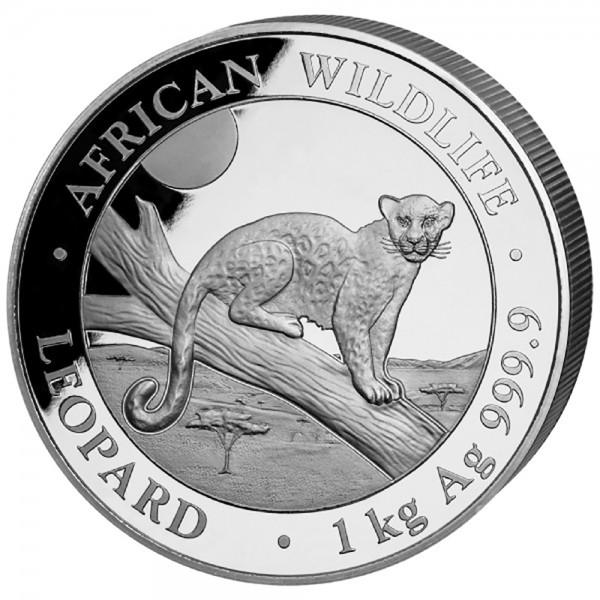 Ankauf: Somalia African Wildlife Leopard 2021, Silbermünze 1 Kilo (kg)