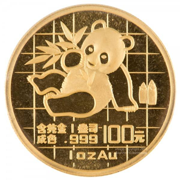 Ankauf: China Panda 1989, Goldmünze 1 Unze (oz)