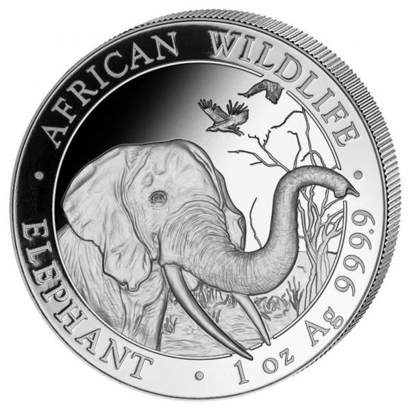 Somalia Elephant 2018, Silbermünze 1 Unze (oz)