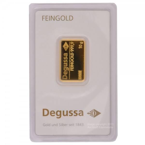 Ankauf: Goldbarren 10g Degussa