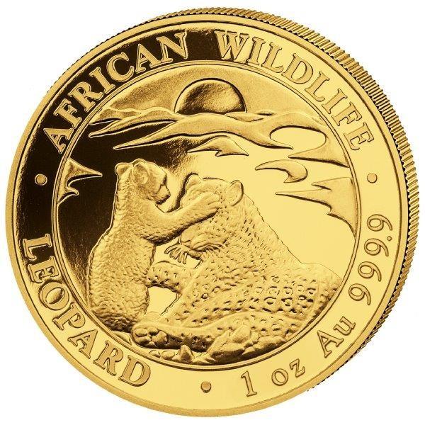 Ankauf: Somalia Leopard 2019, Goldmünze 1 Unze (oz)