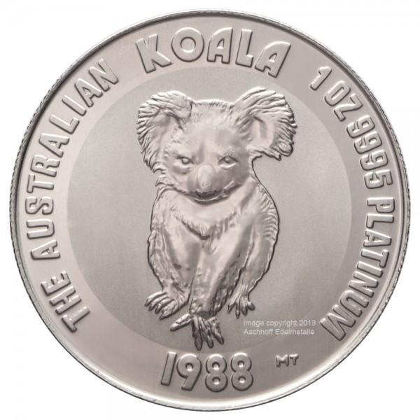 Australian Koala 1988, Platinmünze 1 Unze (oz)