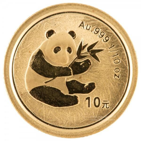Ankauf: China Panda 2000, Goldmünze 1/10 Unze (oz)