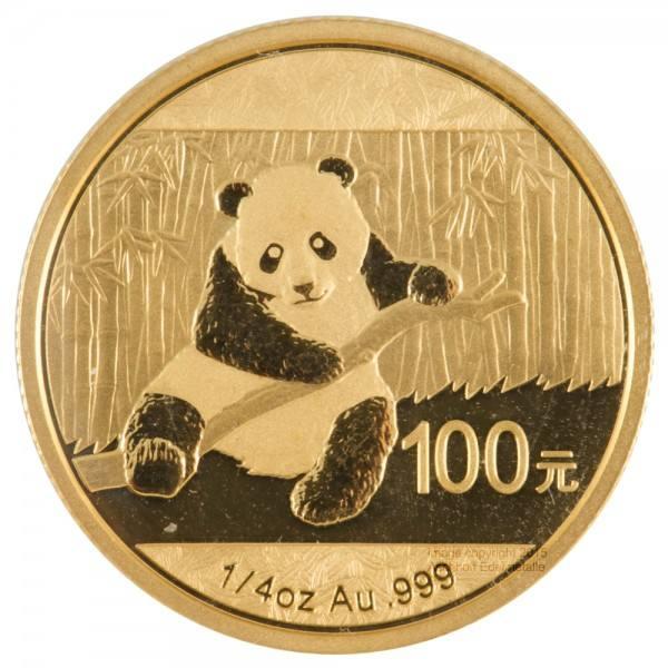 China Panda 2014, Goldmünze 1/4 Unze (oz)