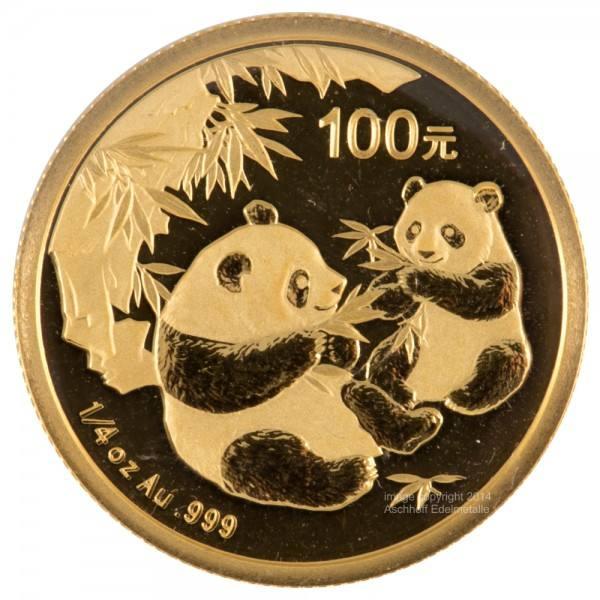 China Panda 2006, Goldmünze 1/4 Unze (oz) Original-Folie