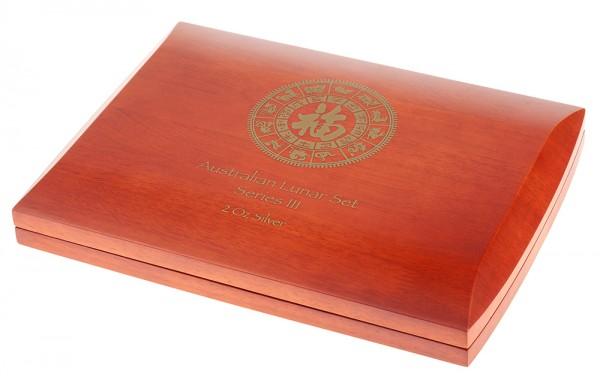 Münzbox für Lunar III Serie 12 x 2 Unzen (oz) Silbermünzen
