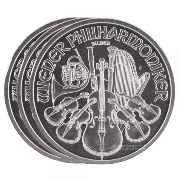 Ankauf: Wiener Philharmoniker, Silbermünzen 500 x 1 Unze (oz), Masterbox