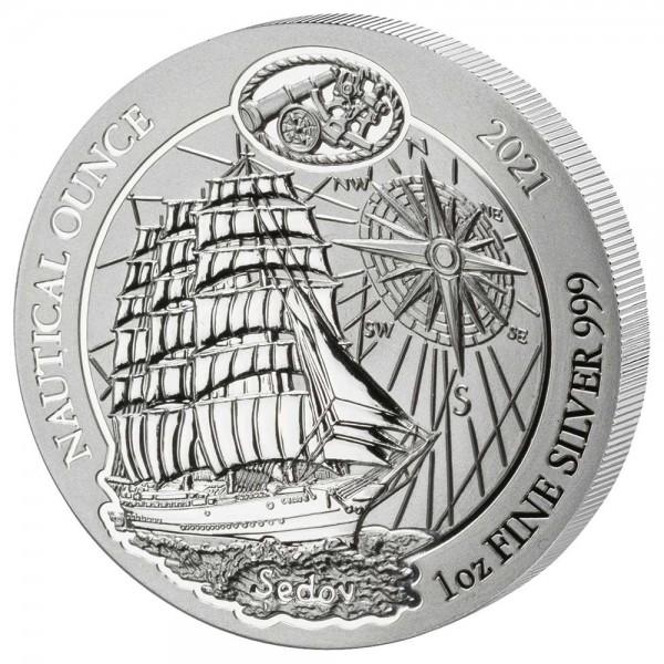 Ruanda Nautical Ounce 2021 Sedov, Silbermünze 1 Unze (oz)
