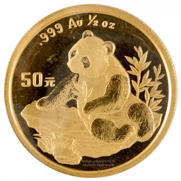 Ankauf: China Panda 1998, Goldmünze 1/2 Unze (oz)