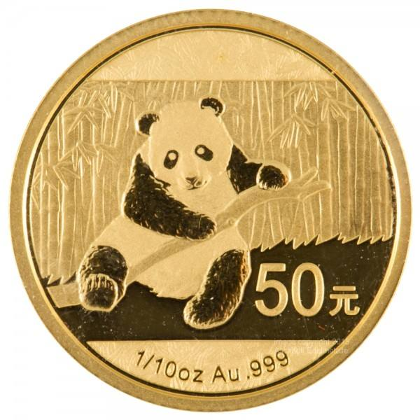 Ankauf: China Panda 2014, Goldmünze 1/10 Unze (oz)