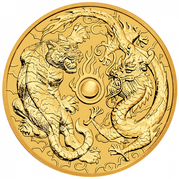 Ankauf: Dragon & Tiger, 2019, Goldmünze 1 Unze (oz)