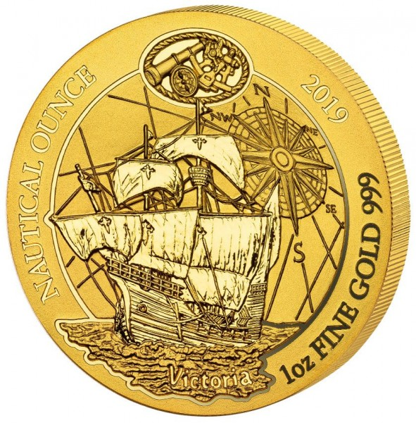 Ankauf: Ruanda Nautical Ounce 2019 Victoria, Goldmünze 1 Unze (oz)