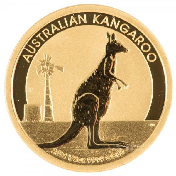 Ankauf: Australian Nugget (Kangaroo), Goldmünze 1/2 Unze (oz) diverse Jahrgänge