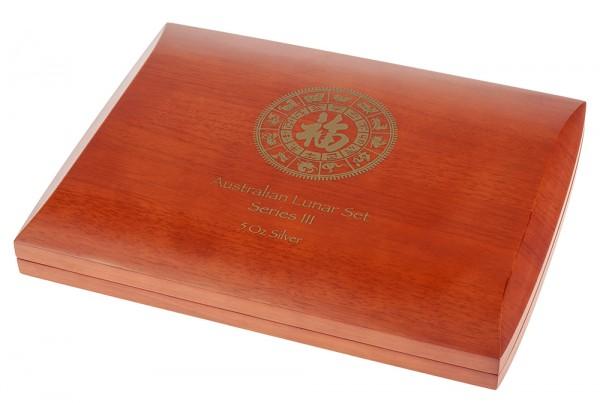 Münzbox für Lunar III Serie 12 x 5 Unzen (oz) Silbermünzen