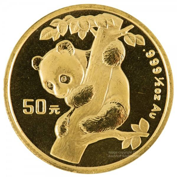 Ankauf: China Panda 1996, Goldmünze 1/2 Unze (oz)