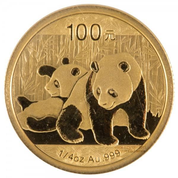 Ankauf: China Panda 2010, Goldmünze 1/4 Unze (oz)