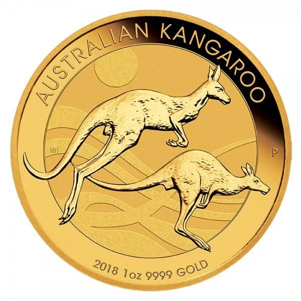 Australian Kangaroo (Nugget) 2018, Goldmünze 1 Unze (oz)