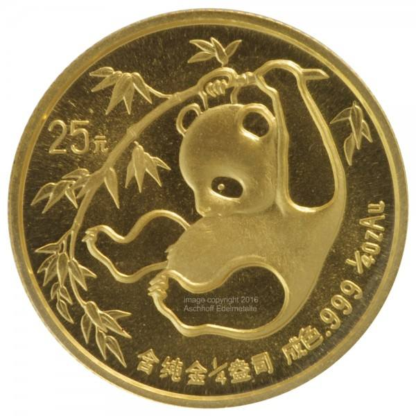 Ankauf: China Panda 1985, Goldmünze 1/4 Unze (oz)