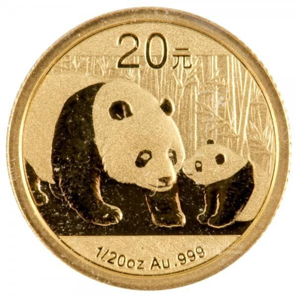 China Panda 2011, Goldmünze 1/20 Unze (oz) Original-Folie