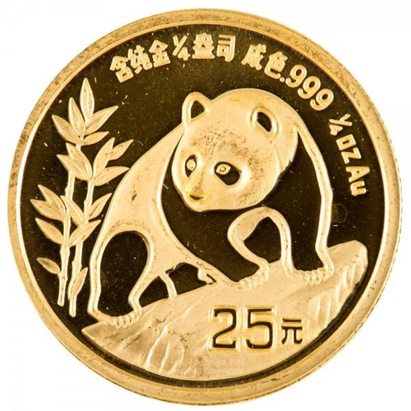 Ankauf: China Panda 1990, Goldmünze 1/4 Unze (oz)