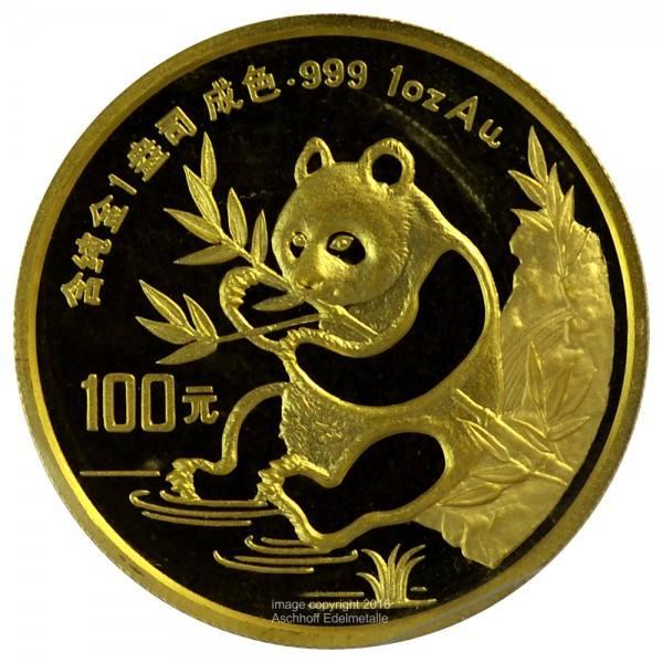 Ankauf: China Panda 1991, Goldmünze 1 Unze (oz)
