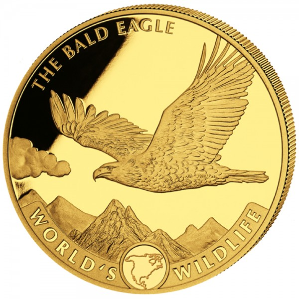 Worlds Wildlife Kongo 2021 The Bald Eagle Goldmünze 1 Unze (oz)