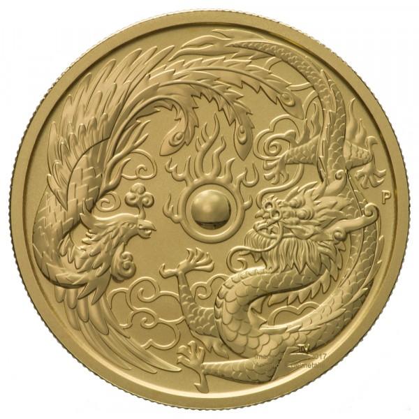 Dragon & Phoenix 2018, Goldmünze 1 Unze (oz)