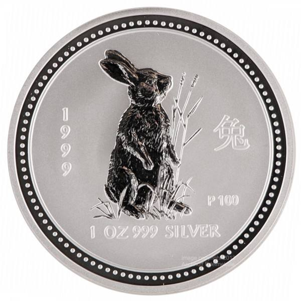 Ankauf: Lunar I 1999 Hase, Silbermünze 1 Unze (oz)