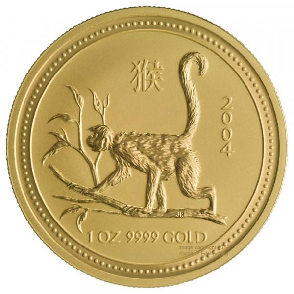 Lunar I 2004 Affe, Goldmünze 1 Unze (oz)