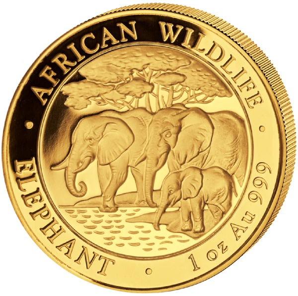 Ankauf: Somalia Elephant 2013, Goldmünze 1 Unze (oz)