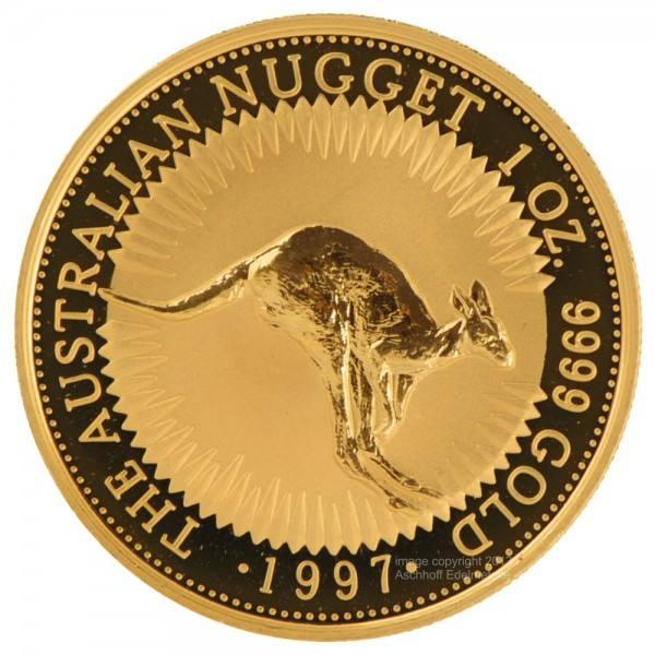 Ankauf: Australian Nugget (Kangaroo) 1997, Goldmünze 1 Unze (oz)