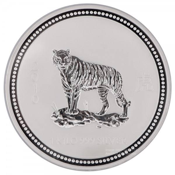 Ankauf: Lunar I 2010 Tiger, Silbermünze 1 kg
