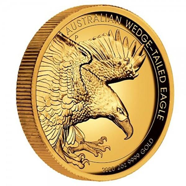 Ankauf: Australian Wedge Tailed Eagle, Goldmünze 2 Unzen (oz) High Relief PP, diverse Jahrgänge