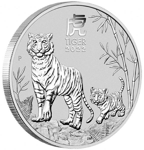 Lunar III 2022 Tiger, Silbermünze 2 Unzen (oz)