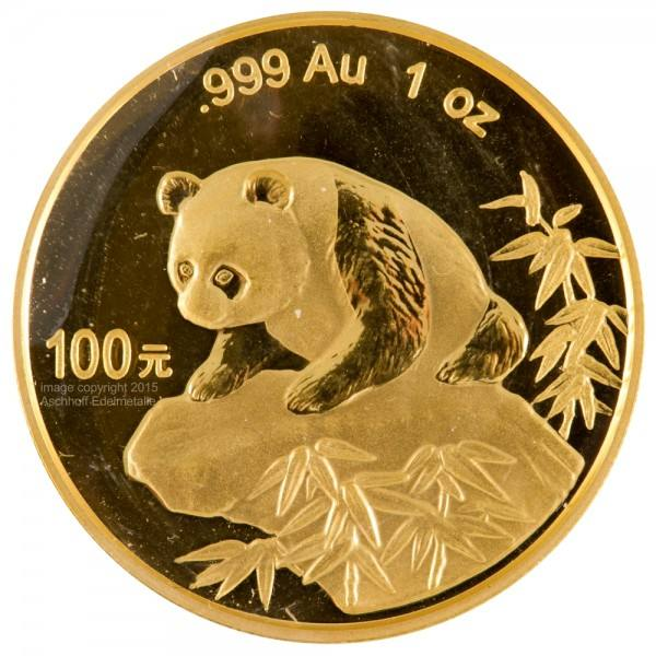 Ankauf: China Panda 1999, Goldmünze 1 Unze (oz)