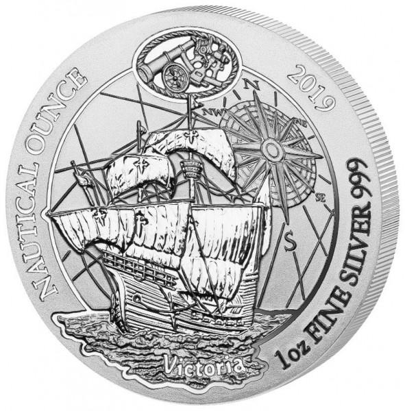 Ruanda Nautical Ounce 2019 Victoria, Silbermünze 1 Unze (oz)